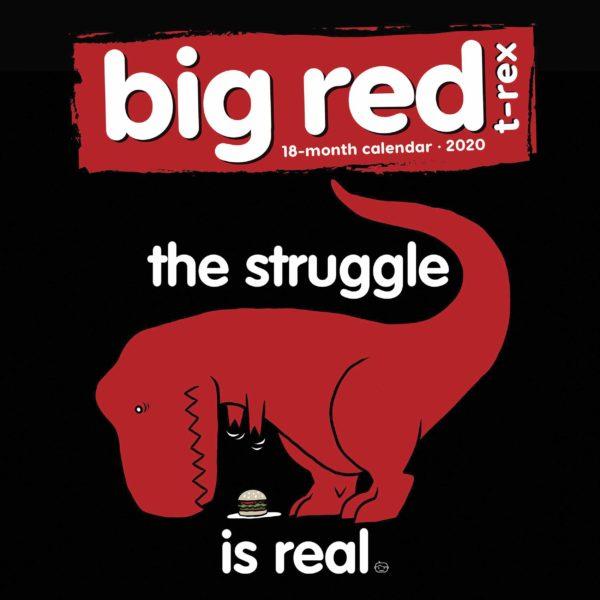 Big Red T Rex CALENDARI 2020 Calendar Ink SQUARE NUOVO