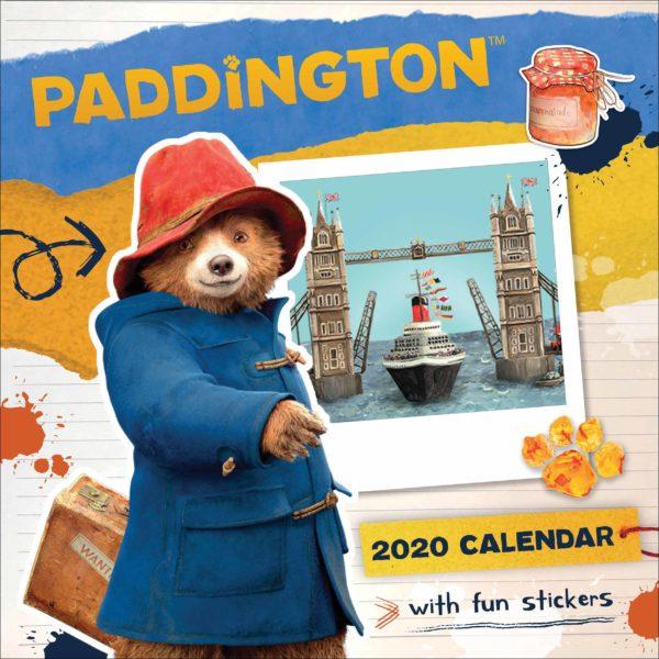 Orso Paddington ufficiale del film CALENDARI 2020 Portico Designs SQUARE NUOVO
