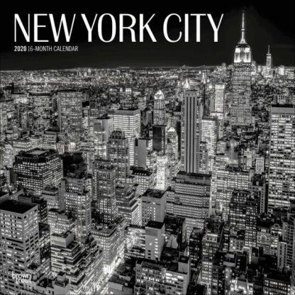 New York City in bianco e nero CALENDARI 2020 Browntrout SQUARE NUOVO