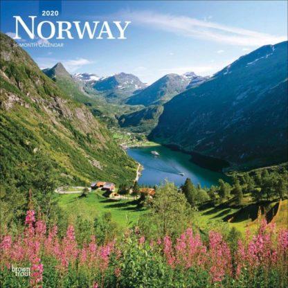 Norvegia CALENDARI 2020 Browntrout SQUARE NUOVO