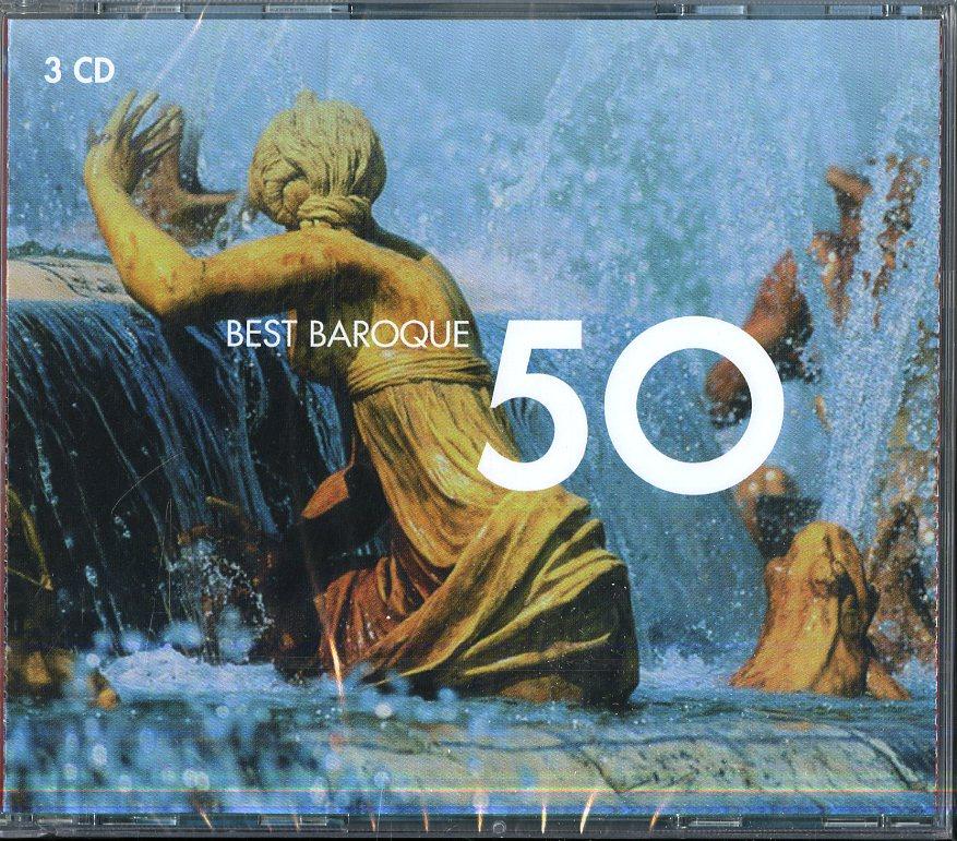 50 Best Baroque (Box3Cd)(Oboe Concerto In C Minor,Canon,Water Music...)